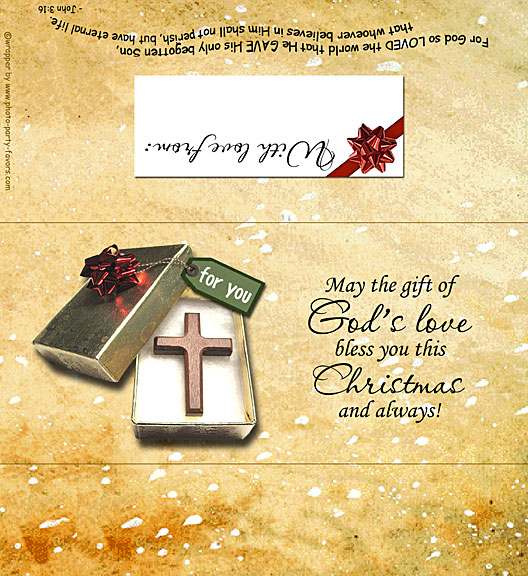 God's Love Christmas Candy Bar Wrapper - Free Printable Chocolate Bar ...