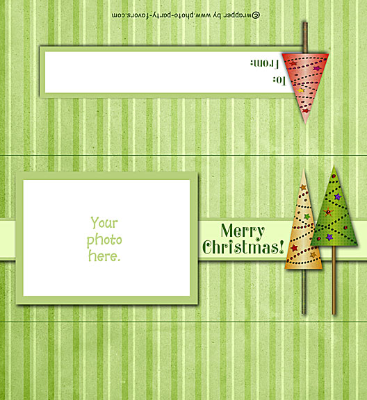 Christmas Trees Free Printable 1.55 oz. Candy Bar Wrapper, ready to personalize with your  message.