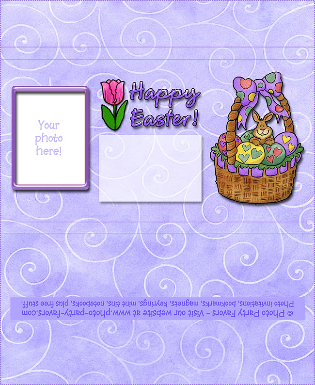 Easter Basket Free Printable Candy Bar Wrapper - add your own photo and text.