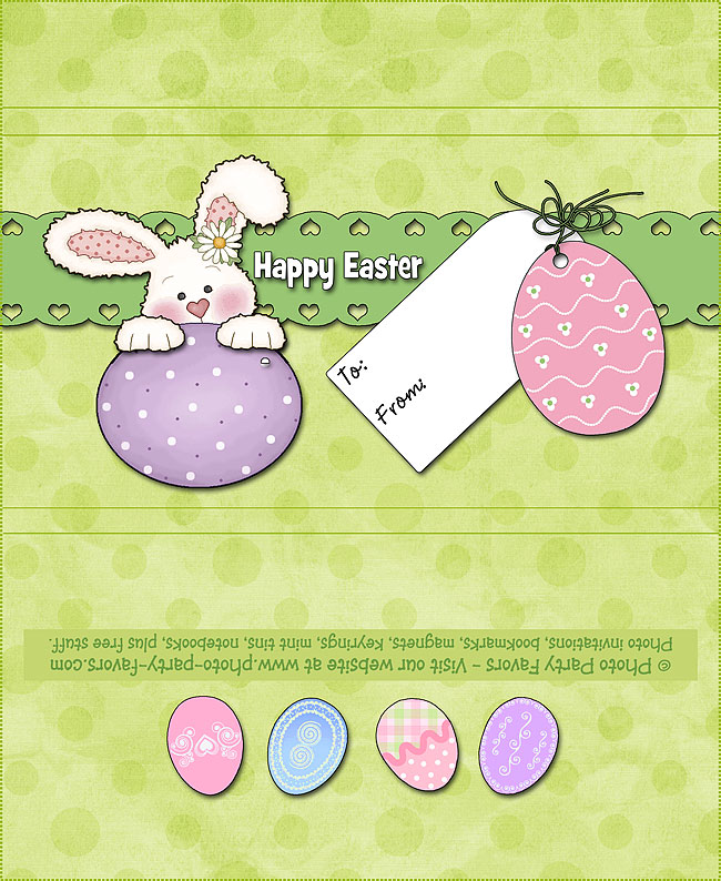 Easter Bunny Free Printable Candy Bar Wrapper, ready to personalize.