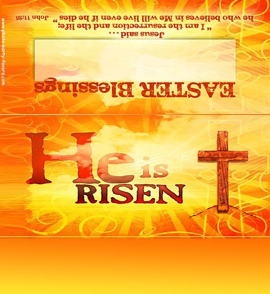 Christian Easter Morning Photo Candy Bar Wrapper Free