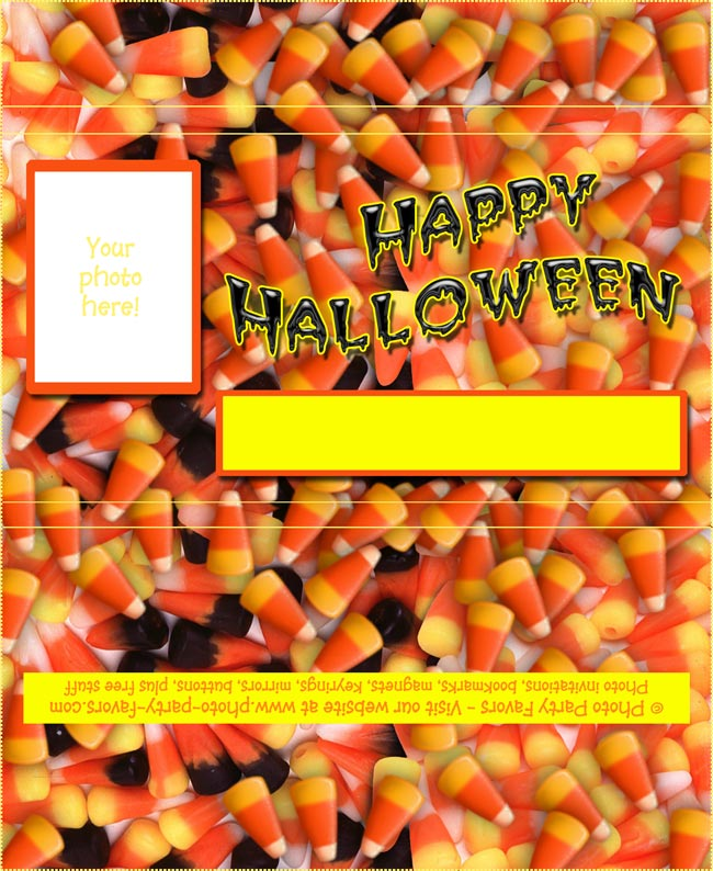 Halloween Candy Corn Free Printable Chocolate Bar Wrapper