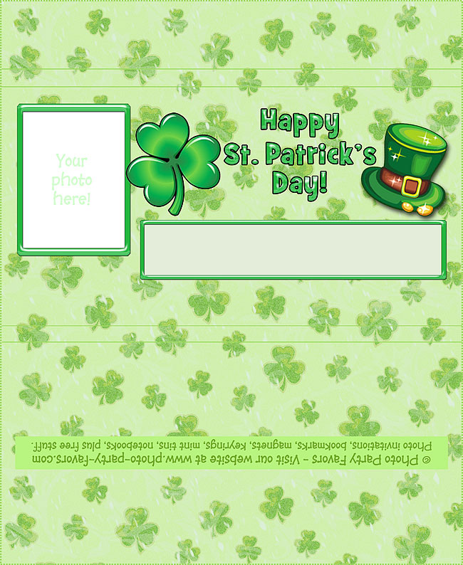 St. Patrick's Day Free Printable Candy Bar Wrapper - add your own photo and text.