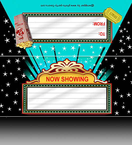Movie Marquee Free Printable 155 Oz Candy Bar Wrapper Ready To Personalize With Your