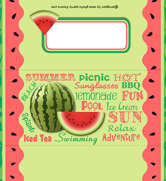 Summertime Free Printable Candy Bar Wrapper, ready to personalize with your  message.