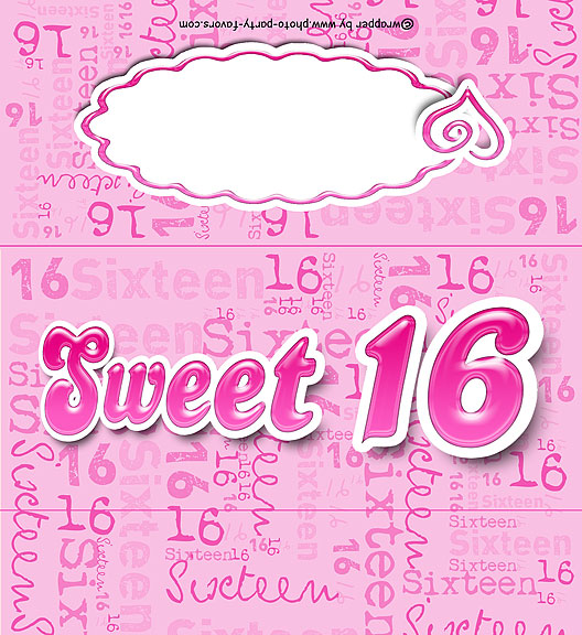 Sweet 16 free printable candy bar wrapper 16th birthday its a girl birth announcement free printable candy bar wrapper ready to personalize with your pronofoot35fo Choice Image