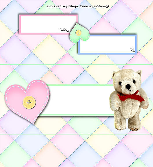 Teddy Bear Free Printable Candy Bar Wrapper, ready to personalize with your  message.