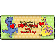 Valentine Dinosaurs Printable Chocolate Bar Wrapper