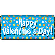 Valentine Conversation Hearts Printable Chocolate Bar Wrapper