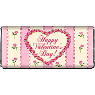 Valentine Pink Roses Printable Chocolate Bar Wrapper