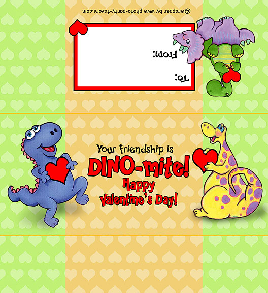 graphic regarding Free Printable Hershey Bar Wrappers called Dinosaur Valentine Sweet Bar Wrapper - Free of charge Printable