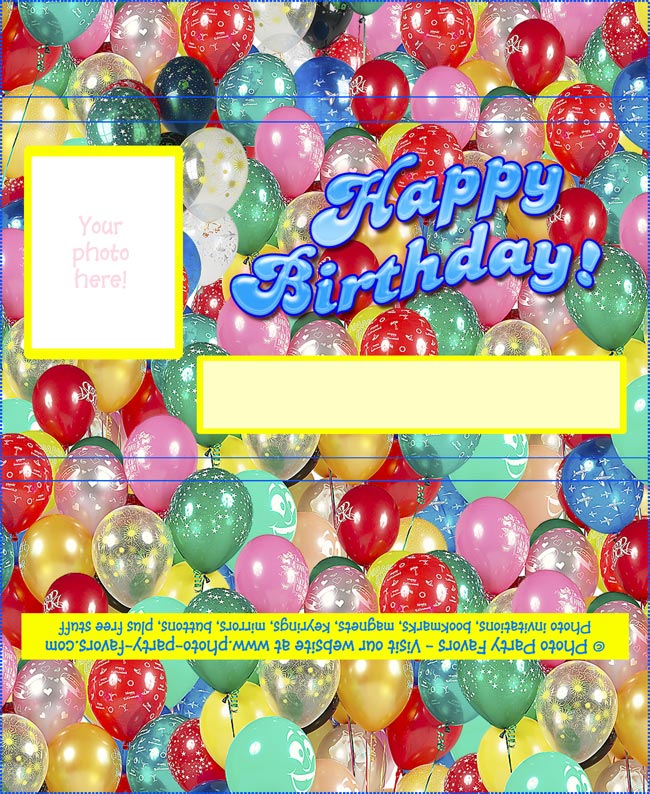 picture relating to Free Printable Candy Bar Wrappers titled Birthday Chocolate Bar Wrapper - Cost-free Printable Sweet Bar