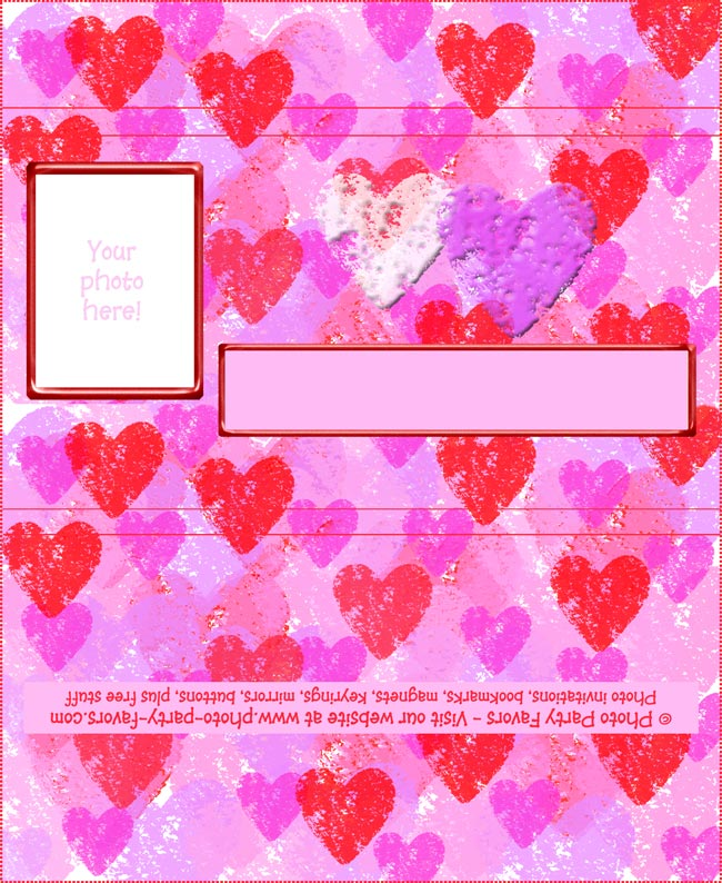 photo about Printable Hershey Bar Wrappers referred to as Hearts Chocolate Bar Wrapper - No cost Printable Valentines