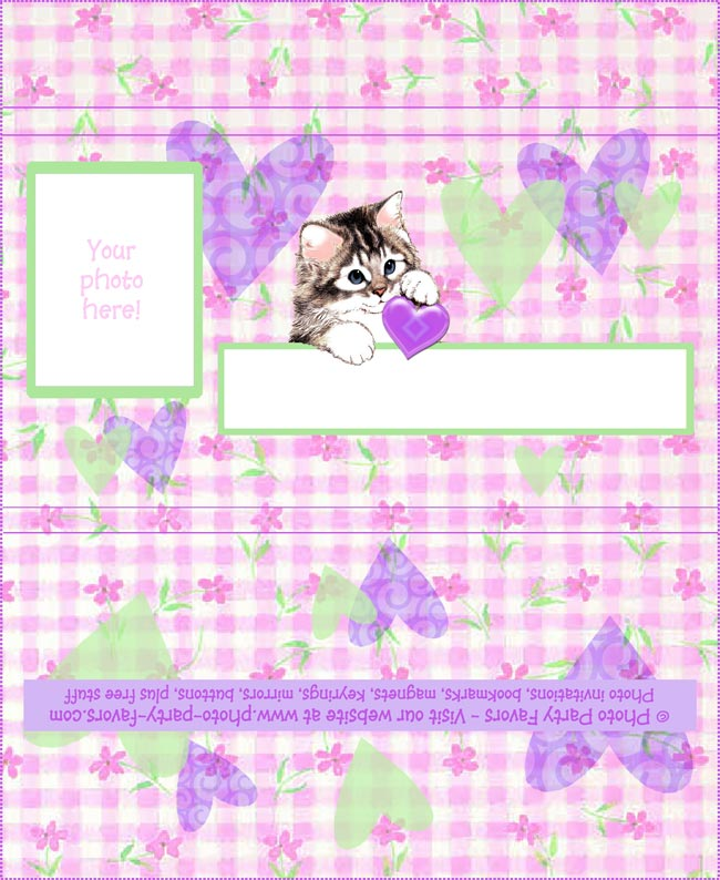 Kitten Hearts Free Printable Chocolate Bar Wrapper