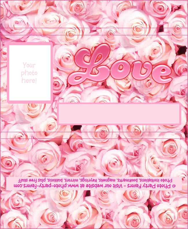 Rose Free Printable Chocolate Bar Wrapper