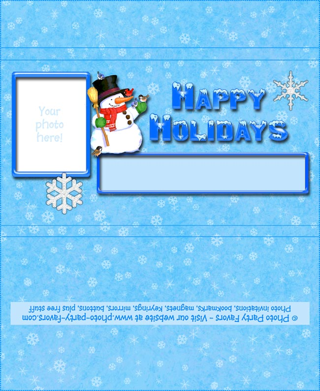 Snowman Holiday Free Printable Chocolate Bar Wrapper