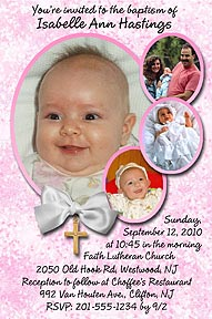 Oval Portrait Baptism Invitation