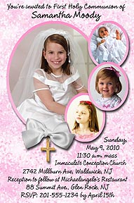 Photo First Holy Communion Invitations Announcements For Your 1st
