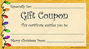 Printable Christmas Lights Gift Coupon