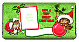 Christmas Kitty Photo Candy Bar Wrappers
