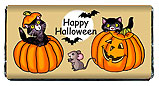 Halloween Black Cats Candy Bar Wrapper