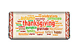 Thanksgiving Word Art Candy Bar Wrapper