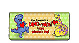 Dinosaur Valentine's Day Chocolate Bar Wrapper