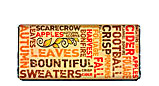 Autumn Word Art Candy Bar Wrapper
