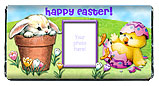 Easter Bunny and Chick Chocolate Bar Wrapper