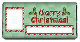 Candy Cane Christmas Chocolate Bar Wrappers