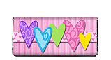 Colorful Bold Hearts Candy Bar Wrapper
