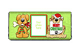 Puppy Christmas Candy Bar Wrapper