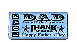 Word Art Father's Day Candy Bar Wrapper