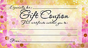 Printable Flower Gift Coupon