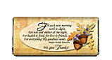 Give Thanks Thanksgiving Chocolate Bar Wrapper