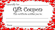 Printable Hearts Gift Coupon