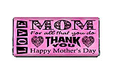 Word Art Mother's DayChocolate Bars