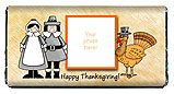 Pilgrims Thanksgiving Candy Bars