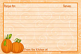4 x 6 inch Pumpkins Recipe Cards