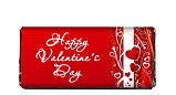 Romantic Red Valentine Candy Bar Wrapper