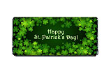 Shamrocks St. Patrick's Day Chocolate Bar Wrapper