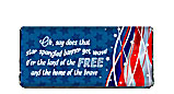 Star Spangled Banner 4th of July Candy Bar Wrapper