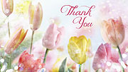 Spring Tulips Folding Printable Thank You Cards