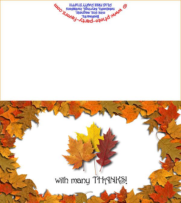 photograph about Free Printable Fall Leaves referred to as Absolutely free Printable Autumn Leaves Thank Oneself Card - Towards Image
