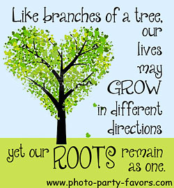 family reunion quote - like branches of a tree our lives may grow in different directions but our roots remain as one