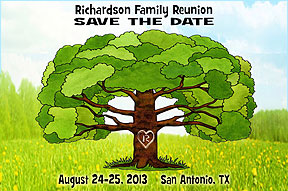 Family Tree  Reunion Save the Date Cards
