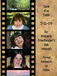 Filmstrip Bar Mitzvah Photo Magnets