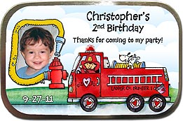 Fire Truck Photo Mint Tin