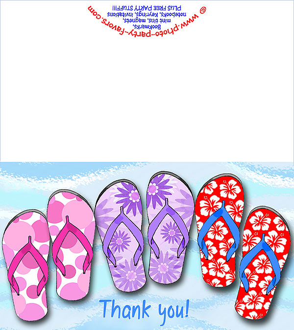 image about Flip Flop Printable referred to as Totally free Printable Switch Flops Thank Your self Card - Towards Picture Social gathering