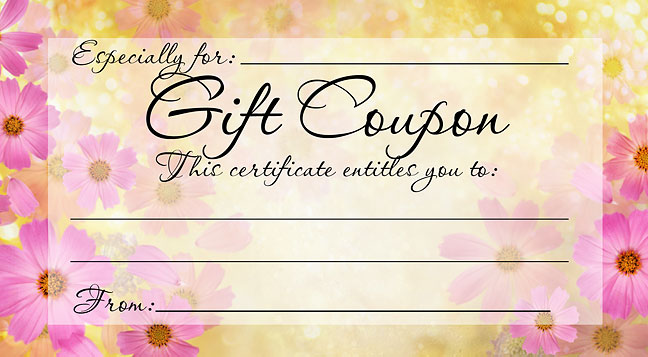 Awesome Gift Certificate Coupon Template  Homemade Gift Vouchers Templates